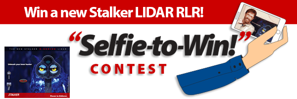 Enter the Stalker Selfie-to-win contest to win a new Stalker Lidar RLR
