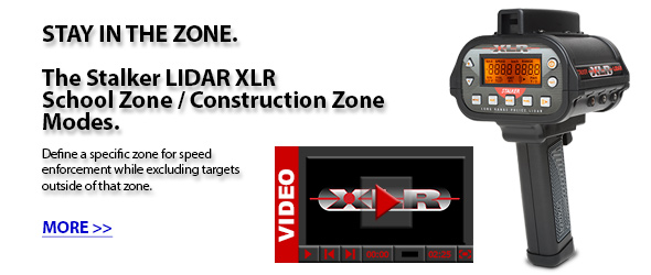 The Stalker LIDAR XLR School Zone / Construction Zone Modes