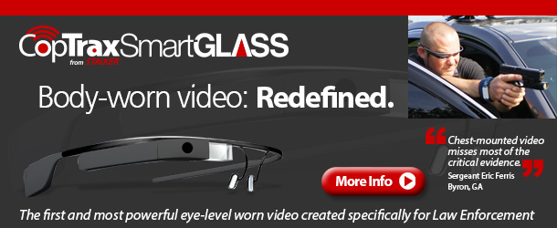 Body-worn video: Redefined. Introducing CopTrax SmartGLASS