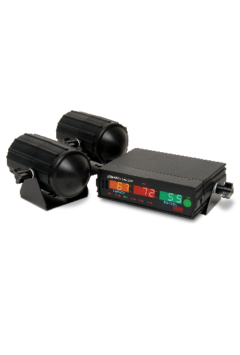 Showing the Stalker DSR Radar with its LED display and waterproof antennas.