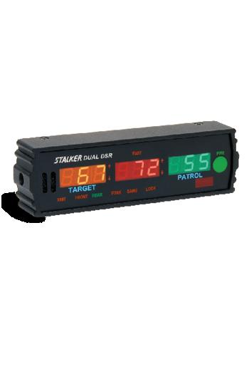 Showing the Stalker DSR Radar's LED display.