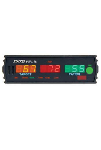 Showing the Stalker Dual SL Radar's LED Display,