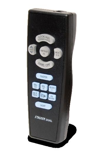 Showing the Stalker Dual SL Radar's ergonomic remote control,
