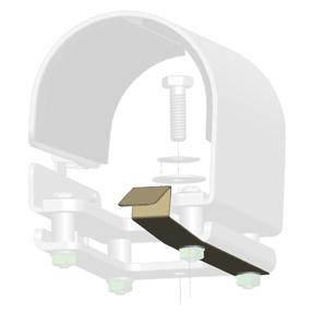 Stalker Radar motorcycle mount clip