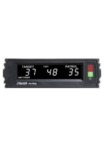Showing the Stalker Patrol Radar's LCD Display,